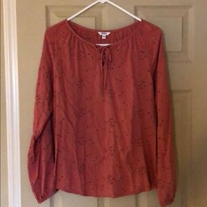 Worn only once! Long sleeved detailed top